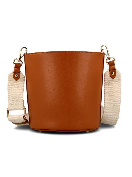 Ermanno Scervino - Kožna torba sa platnenim kaišem - D38ETBS196E07-ER003 D38ETBS196E07-ER003