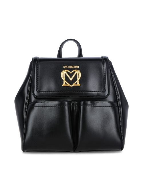 Love Moschino - Ruksak sa džepovima i zlatnim logom - JC4259PP0CKK0000 JC4259PP0CKK0000
