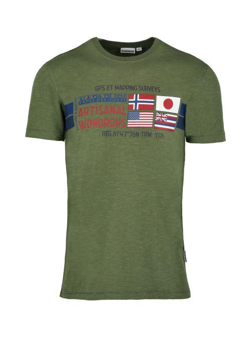 Napapijri - Pamučna majica sa printom - NP0A4F6JG2C1 NP0A4F6JG2C1