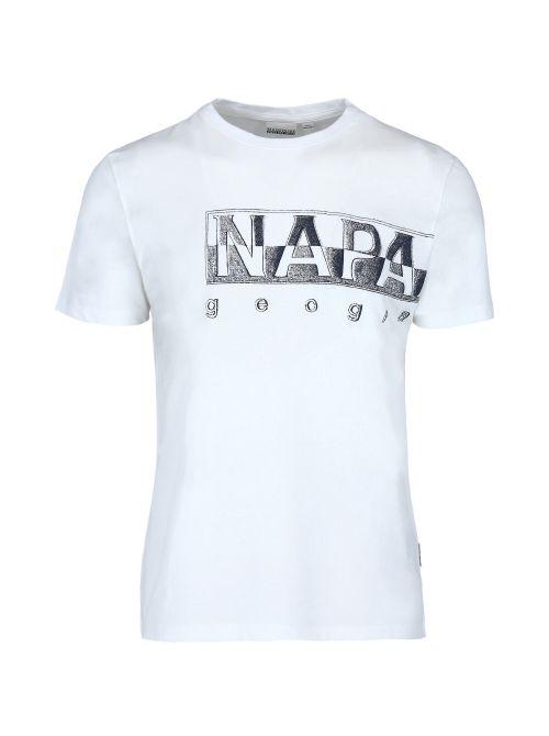 Napapijri - Pamučna majica sa printom - NP0A4F9N0021 NP0A4F9N0021