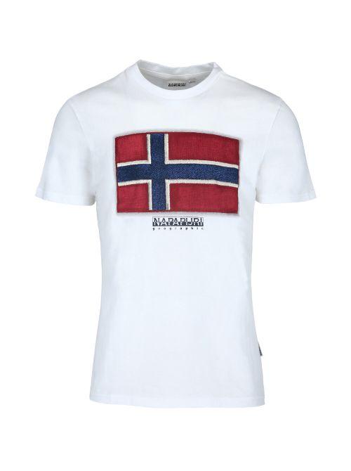Napapijri - Pamučna majica sa printom - NP0A4F9R0021 NP0A4F9R0021
