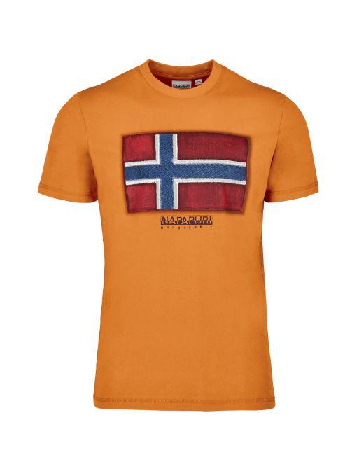 Napapijri - Pamučna majica sa printom - NP0A4F9RA581 NP0A4F9RA581