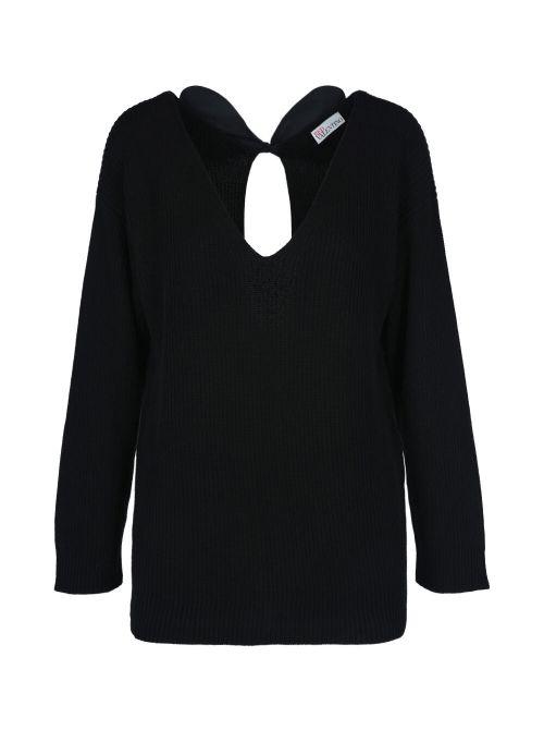 Red Valentino - Džemper za mašnama na leđima - VR0KC07K5UB-0NO VR0KC07K5UB-0NO
