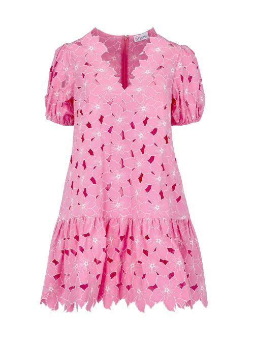 Red Valentino - Mini haljina od čipke - VR0VA17Y5TB-C86 VR0VA17Y5TB-C86