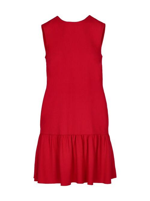 Red Valentino - Mini haljina sa karnerom i mašnom na leđima - VR0VAAE00F1-Z57 VR0VAAE00F1-Z57